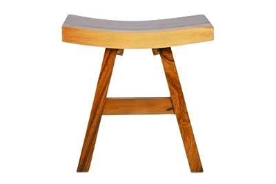 Hocker Suar Holz Sitzhocker Holzhocker massiv DIVERO von Nexos Trading bei Gartenmöbel von Du und Dein Garten