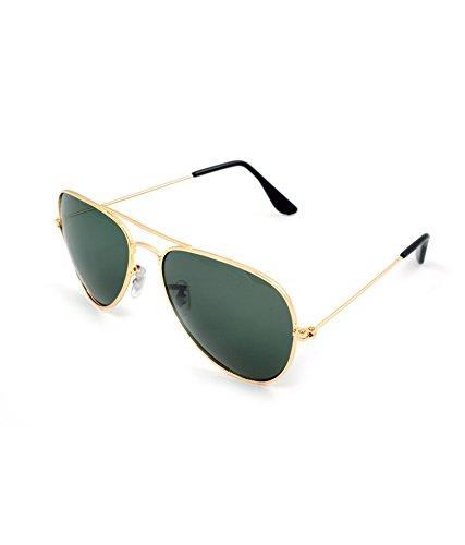 Auric Era Aviator Sunglasses (Black) (MERBNGLDBLK-002)