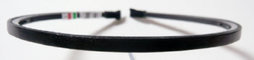 6 color men and women and for slim 5 mm made in Italy leather headband K 2040 (black)