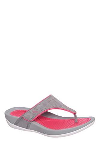 Katy Suede Low Wedge Flip Flop Sandal