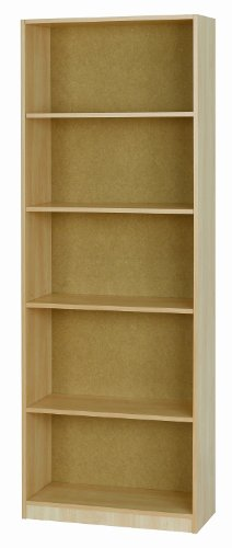 Elemental Woodgrain Bookcase, Fully Assembled