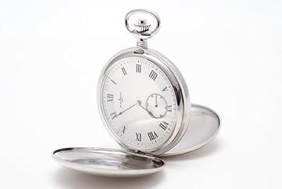 Bouverat 1919 Pocket Watch BV822201 Rhodium Plated Full Hunter