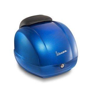 Topcase Koffer für Piaggio Vespa GTS Super 300 blau gaiola 261/A