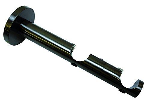 Gardinia 10011155 doppeltraeger pour tringles à rideaux 2 voies en ouvert, série chicago-diamètre 20 mm-titan
