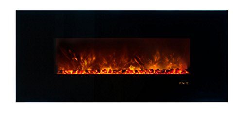 Modern Flames Clx Series Wall Mount/Built-In Electric Fireplace With Black Glass Front, 60-Inch