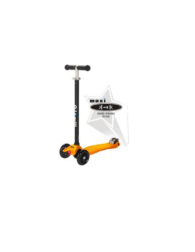 maxi kick Scooter - ORANGE with T-Bar Steering. Winner of the Oppenheim Portfolio Gold and Platinum Seal Awards 2009