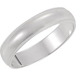 Genuine IceCarats Designer Jewelry Gift 10K White Gold Wedding Band Ring Ring. 05.00 Mm Milgrain Band In 10K Whitegold Size 11