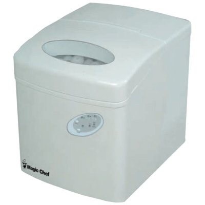Magic Chef Mcim22tw 27-Lb Portable Mini Ice Maker (White)