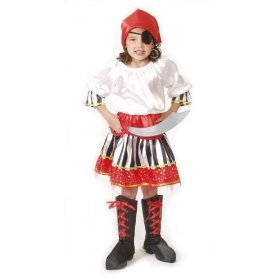 Caribbean Pirate Girl Dress up Costume Play Halloween S