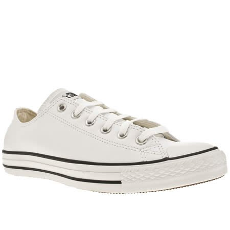Converse All Star Leather Ox - 9 Uk - White - Leather