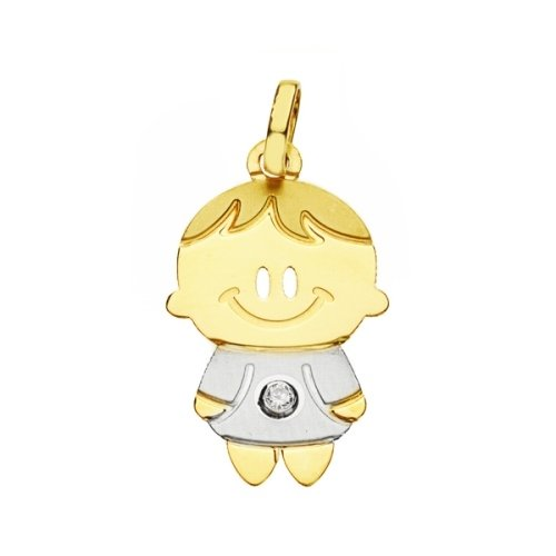 Bicolor gold pendant 18K child