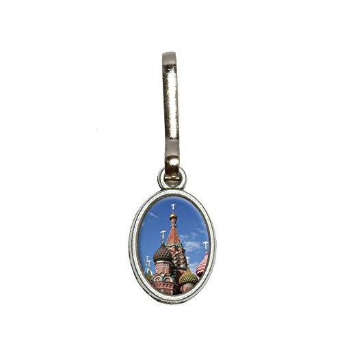 KreML St Basil's Cathedral Russland Rote Square Antiqued Oval Charm Kleidung Geldbörse Gepäck Rucksack, Reißverschluss