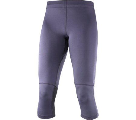 Salomon Agile Tight W - Collant capri da donna, colore Grigio, taglia XL