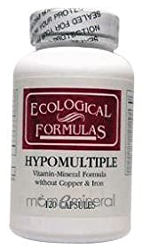 Hypomultiple without Cu/Fe 120 Capsules by Ecological Formulas