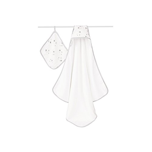 aden + anais Classic Hooded Towel and Washcloth Set, Twinkle