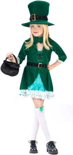 Kid's Leprechaun Girl Costume (Size:Small 4-6)