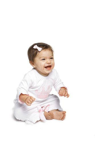 Mud Pie Baby Little Princess Crown Long Sleeve Sleeper, Size Newborn to 6 Months
