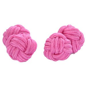 Pink Shade Silk Knot Cufflinks | Cuffs & Co