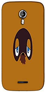 Snoogg grumpy in face Designer Protective Back Case Cover For Micromax A117
