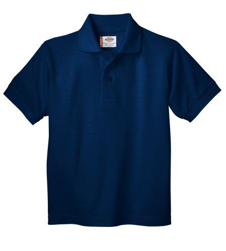 Dickies Little Boys' Short Sleeve Pique Polo Shirt,Dark Navy,4T