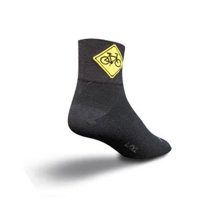 Buy Low Price SockGuy Classic 3in Share the Road Black Cycling/Running Socks (B0025L5SPY)