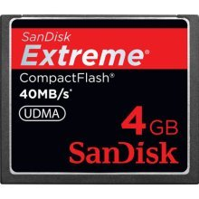 SanDisk Extreme CompactFlash 4 GB Memory Card 40MB/s SDCFX-004G-X46