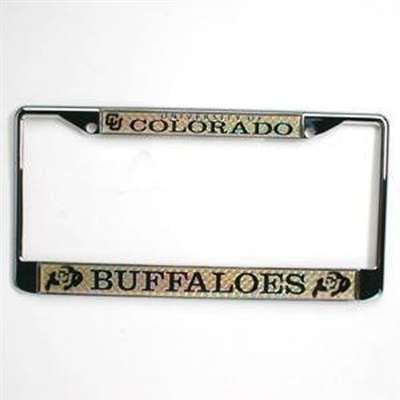 Colorado Buffaloes Metal License Plate Frame w/Domed Insert (License Plate Frame Buffalo compare prices)
