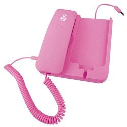 Pyle Home PIRTR60PN Handheld Phone and Desktop Dock for iPhone - Desktop Charger - Retail Packaging - Pink by Pyle Home
