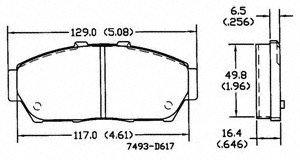 Power Stop 16-876 Z16 Ceramic Brake Pad
