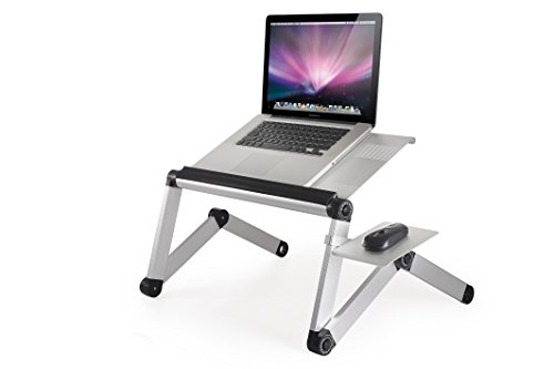Workez Cool Ergonomic Laptop Cooling Stand, Lap Desk, Standing Desk with 2 Fans +3 USB Ports + Mouse Pad (Silver) (Cool Fan Mouse compare prices)