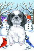 shih-tzu-black-white-by-tomoyo-pitcher-winter-themed-dog-breed-flags-12-x-18