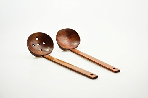 refee-85-handcrafted-wooden-soup-spoon-slotted-spoon-2-sets-by-refee