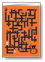 Halloween Crossword Puzzle Card