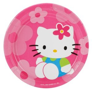 Hello Kitty Flower Fun Birthday or Bridal Party Dessert Plates (8 Count) - 1