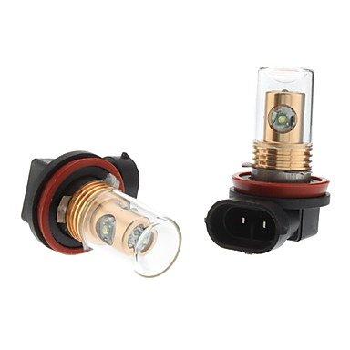 Component Leds - H11 12W White Light Cree Led Bulb For Car Fog Lamp (Dc 12-24V, 1-Pair)