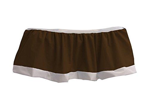 Baby Doll Bedding Regal Nuetral Crib Skirt/ Dust Ruffle, Chocolate brown