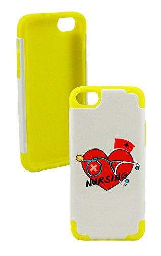 Phonetatoos (Tm) For Iphone 5C Love Nursing Plastic & Silicone Case - Lifetime Warranty (Yellow)