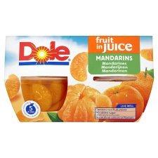 Dole Fruit Bowl Mandarins In Juice 4X113g x 4