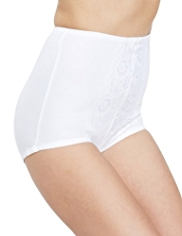 Firm Control Traditional Floral Lace Knickers