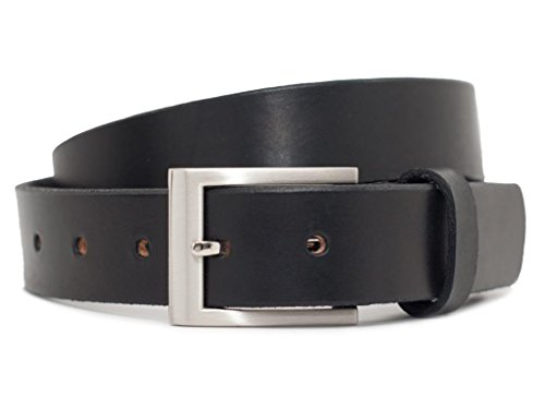 "Nickel Free Silver Square Belt (32"", Black)"