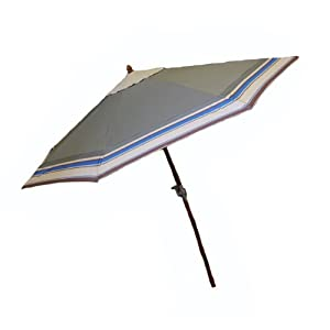 At Leisure Wood Market Umbrella, 9-Feet , Olive Green at Sears.com