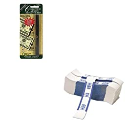 KITDRI351B1PMC55027 - Value Kit - Pm Company Color-Coded Kraft Currency Straps (PMC55027) and Dri-mark Smart Money Counterfeit Bill Detector Pen for Use w/U.S. Currency (DRI351B1)