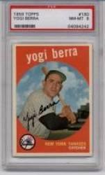 1959 Topps #180 Yogi Berra PSA 8
