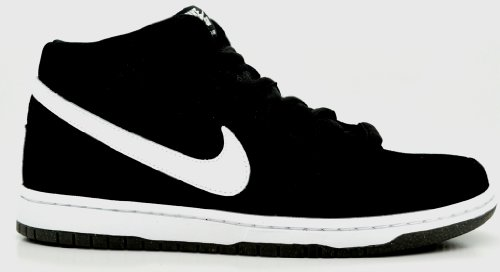 Nike Dunk Mid Pro Sb Mens Skateboarding Sneakers Style# 314383-006 (10.5 M US, BLACK/WHITE)
