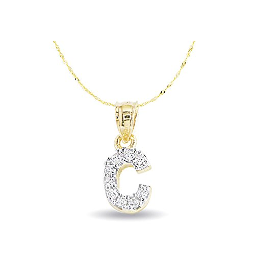Initial Necklace White Gold