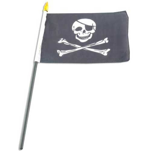 Pirate - Jolly Roger - Flag 4x6 inch Hand Flag - Buy Pirate - Jolly Roger - Flag 4x6 inch Hand Flag - Purchase Pirate - Jolly Roger - Flag 4x6 inch Hand Flag (US Flag Store, Home & Garden,Categories,Patio Lawn & Garden,Outdoor Decor,Banners & Flags)