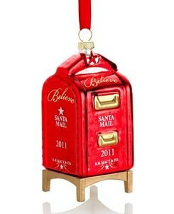 Amazon.com: Macy's Yes Virginia 2011 Glass Mailbox Christmas Ornament