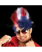 LED Patriotic Mohawk Wig