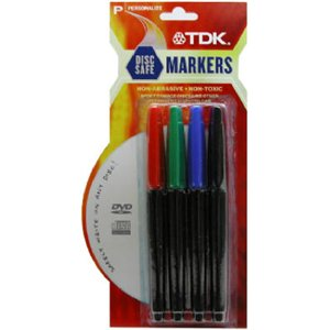 TDK CDM-PMC4 CD Labeling Pen - Set of 4 (Discontinued by Manufacturer)