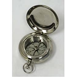 """1 3/4"""" Chrome Plated Pocket Compass with Cover - Hiking [Misc.]"""